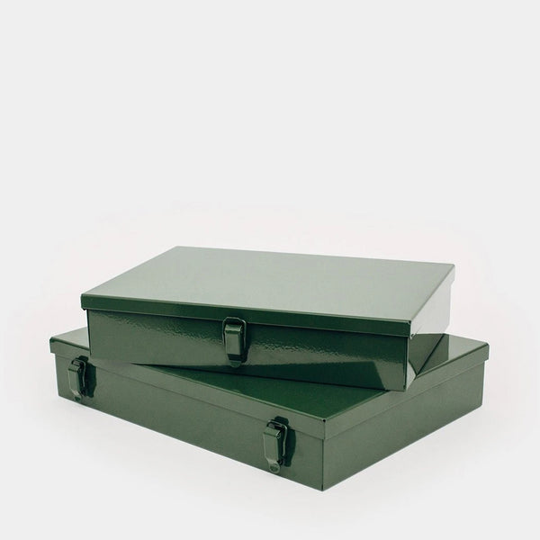 Military-Style Metal Stash Boxes (Set of two)