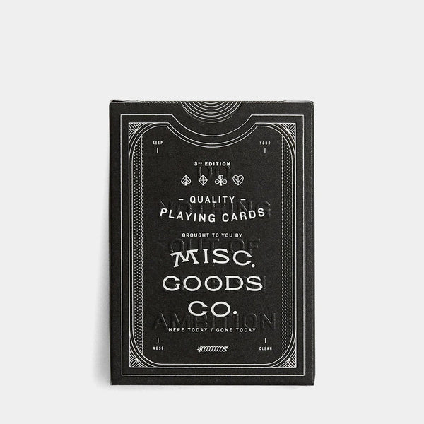 Misc. Goods Co. Misc. Goods Playing Cards