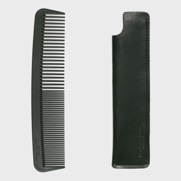 Chicago Comb Co. Model 6. Carbon Fiber Comb