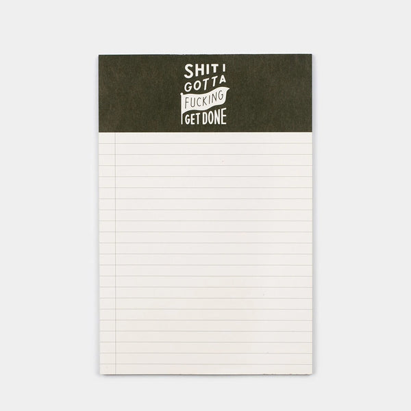 Cool Material Shit I Gotta F*cking Get Done Notepad - 2-Pack