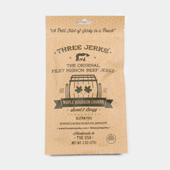 Three Jerks Maple Bourbon Jerky - <span class='Widget_Products-get_products-price'>$10.00</span>