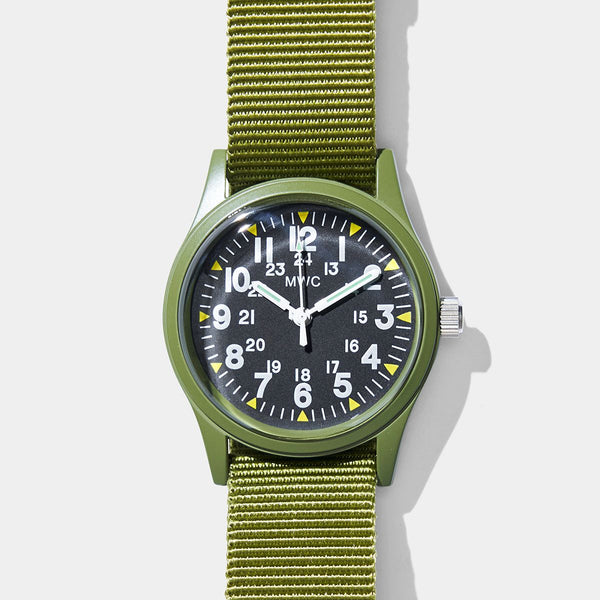 1960s US Vietnam Military Watch - Olive
