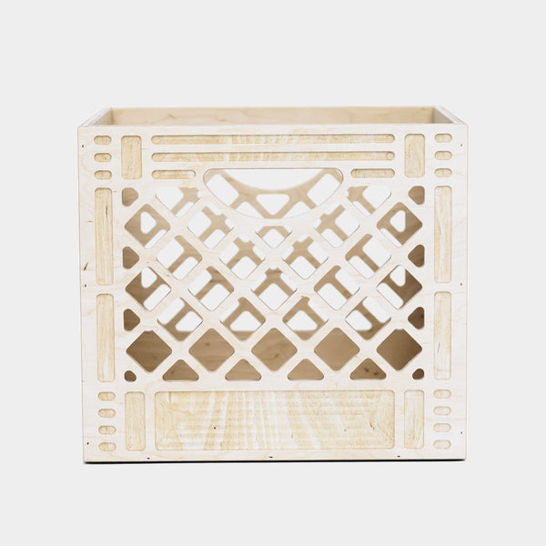 WAAM Industries The Collector - Wooden Milk Crate