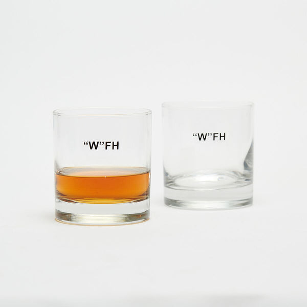 Work From Home Whiskey Glass (2) - Cool Material