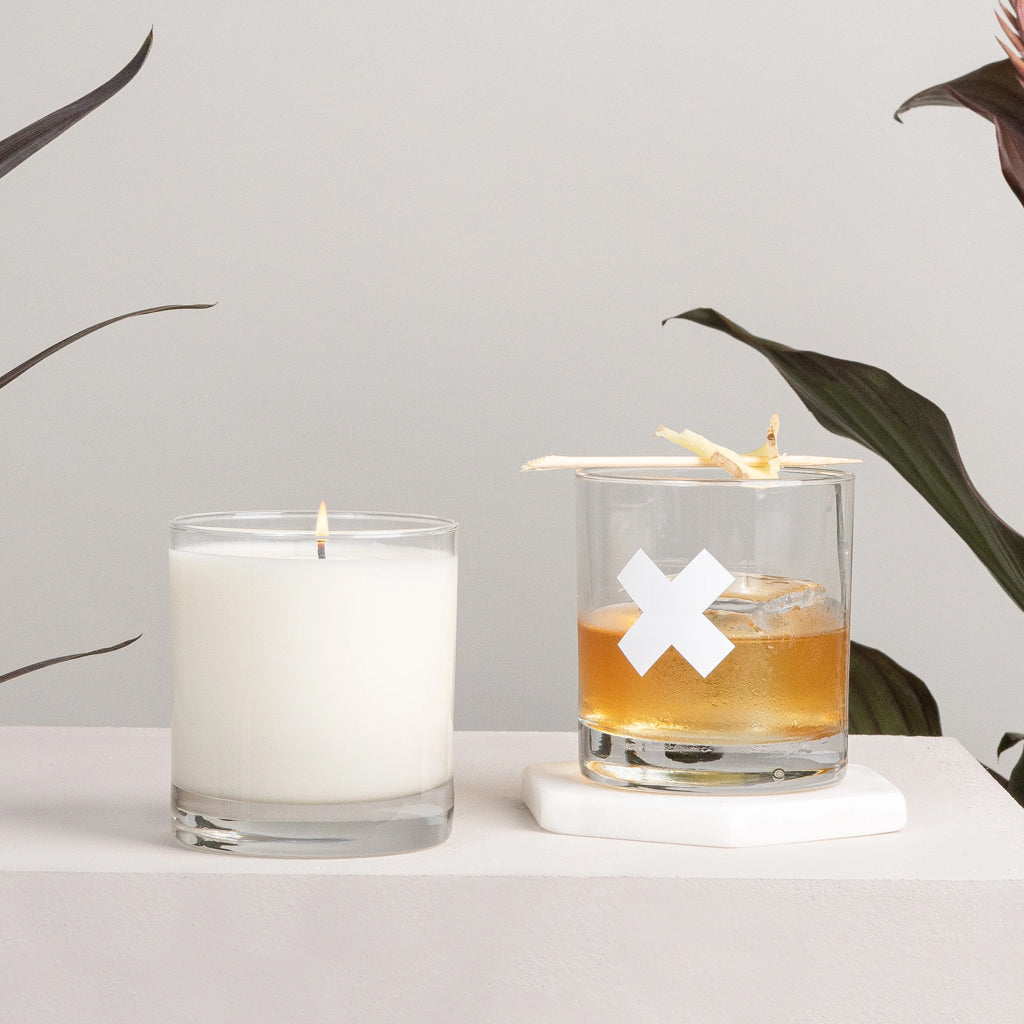 Whiskey Candle + Tumbler