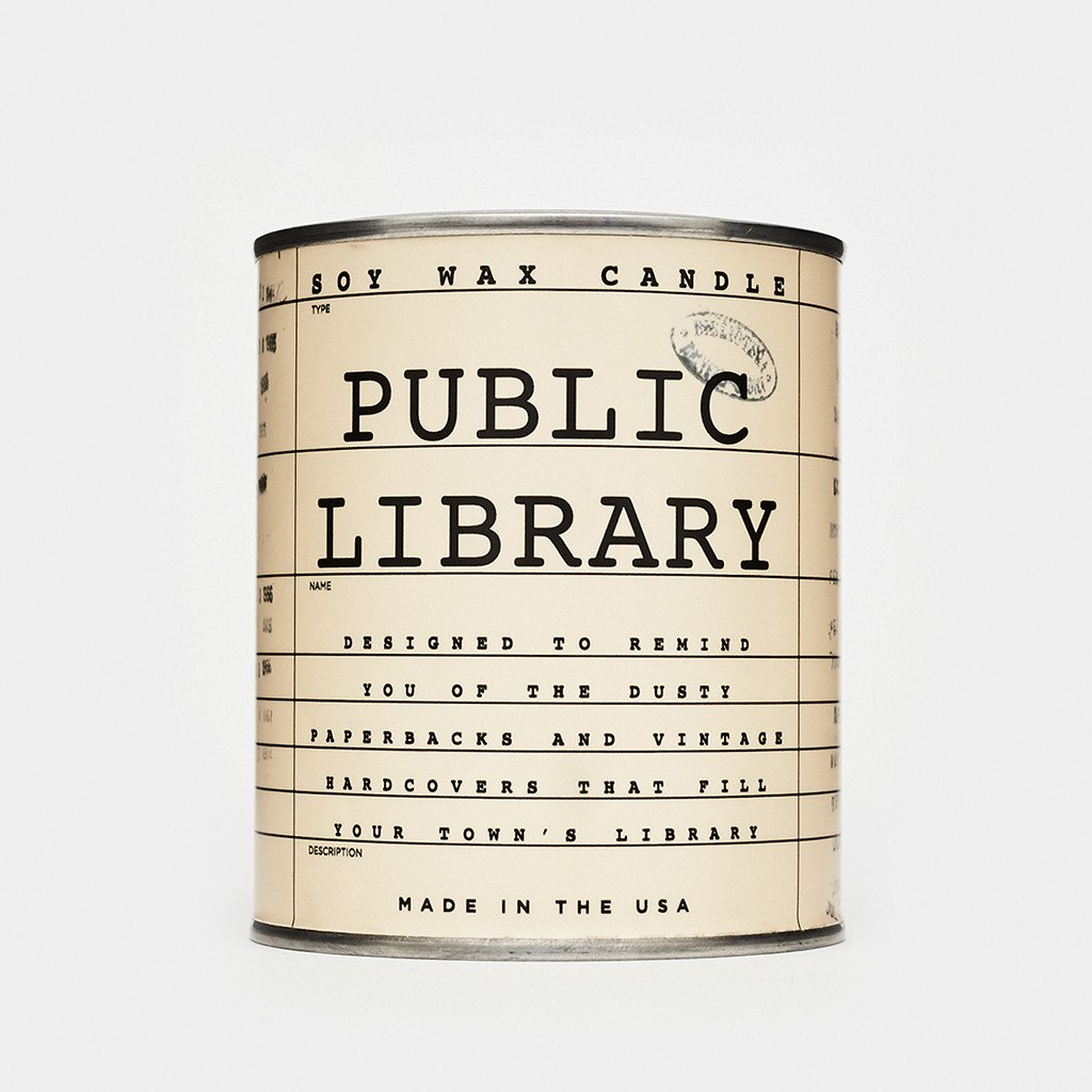 Cool Material The Public Library Candle