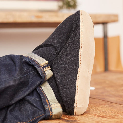 Glerups Slip-Ons - Charcoal - Cool Material