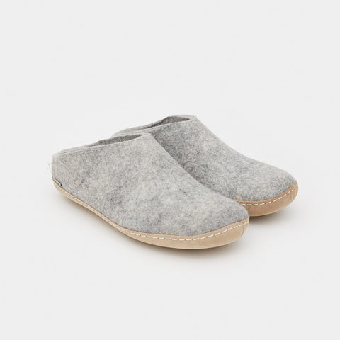 Glerups Slip-Ons - Grey Slipper by Glerups - Cool Material - 1
