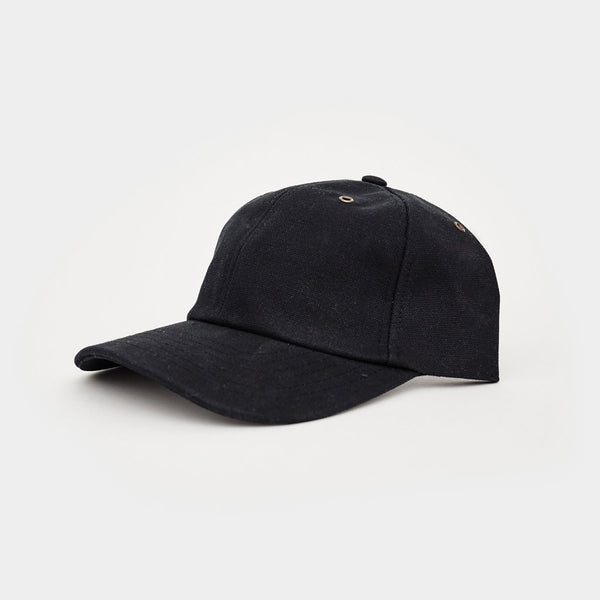 Waxed Canvas Baseball Hat - Black - Cool Material