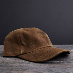Hat - Waxed Canvas Baseball Hat - Moss