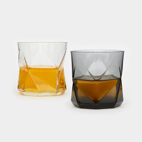 Faceted Whiskey Glasses - Cool Material