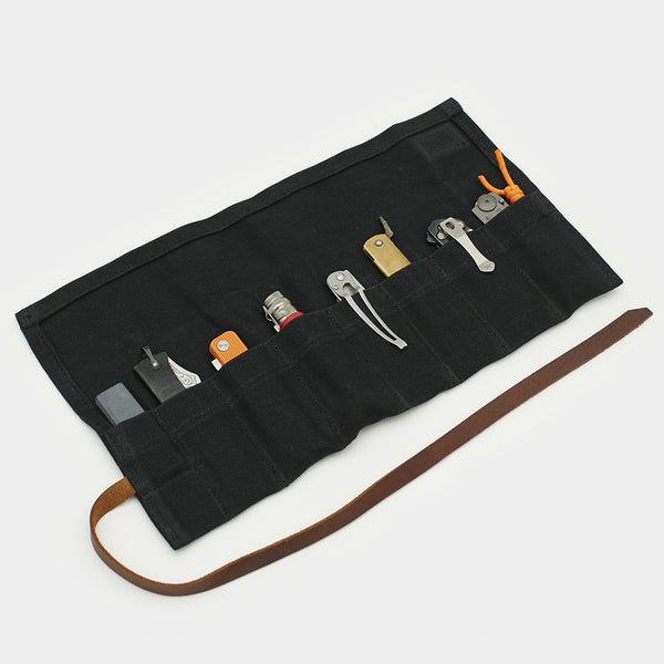 Waxed Canvas Pocket Knife Roll - Cool Material
