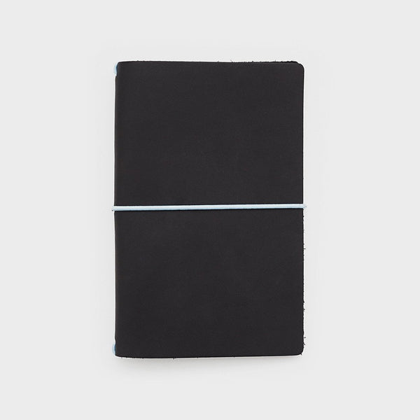 Leather Cover - Word. Notebook Leather Jacket - Black/Blue