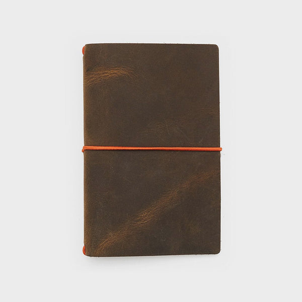 Word. Notebooks Word. Notebook Leather Jacket - Olive/Orange