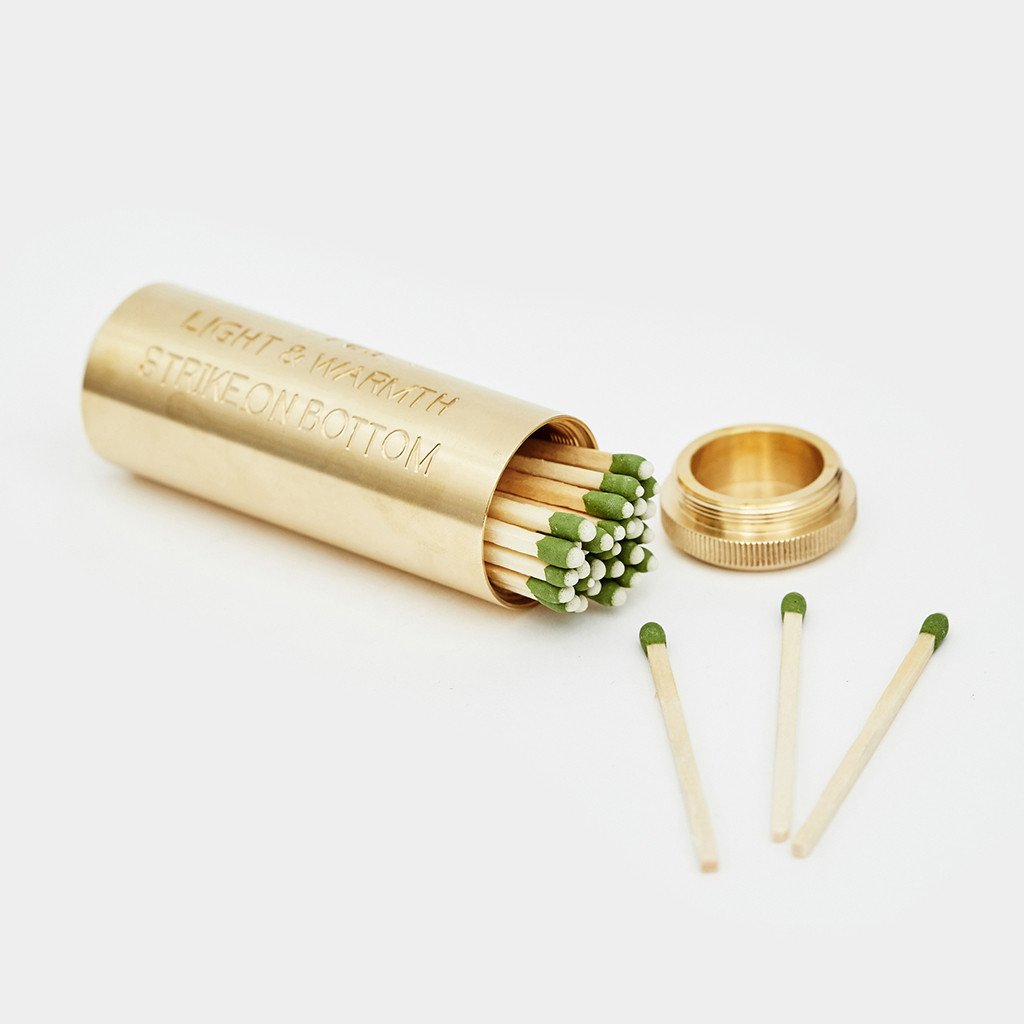 Match Box - Solid Brass Fire Kit