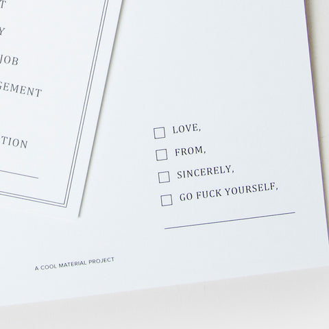The Every Occasion Card - Cool Material