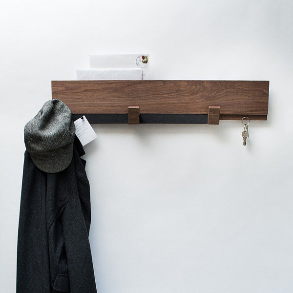 Komolab Entryway Wall Rack - Walnut