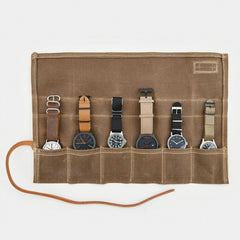 Waxed Canvas Watch Roll - <span class='Widget_Products-get_products-price'>$52.95</span>