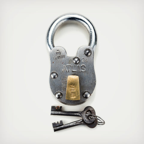 Vintage Style Padlock - Cool Material