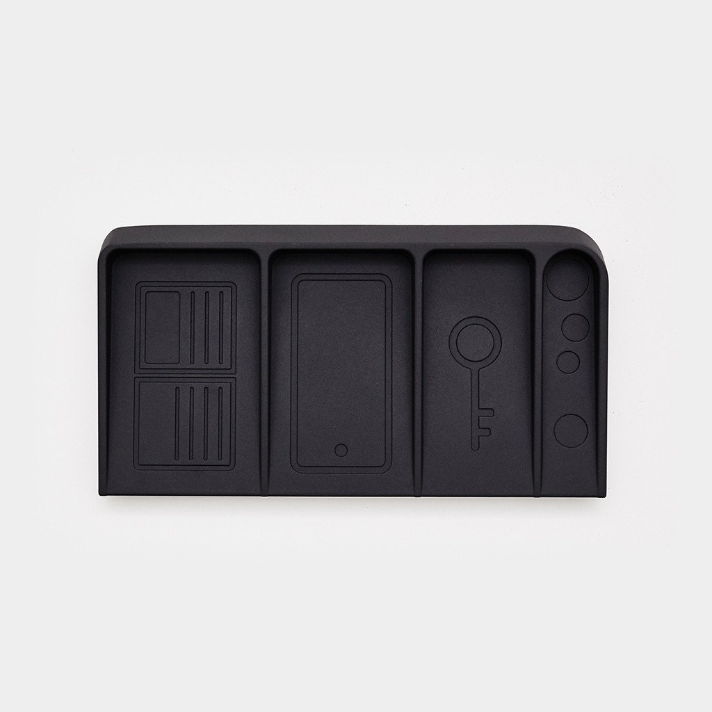 DOIY Design Black Metal Valet Tray