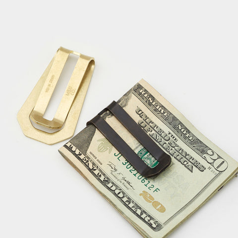 Solid Brass Money Clip Wallet by Maxx & Unicorn - Cool Material - 1