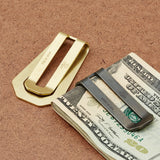 Solid Brass Money Clip Wallet by Maxx & Unicorn - Cool Material - 6