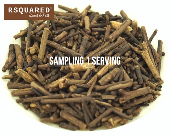 FREE SAMPLE 1 SERVING RSQUARED Japanese Kukicha twig tea biodegradable pyramid sachet