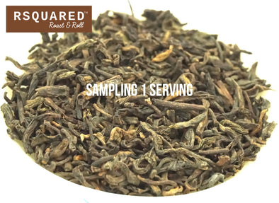 FREE SAMPLE 1 SERVING RSQUARED Pu-er whole leave tea biodegradable pyramid sachet