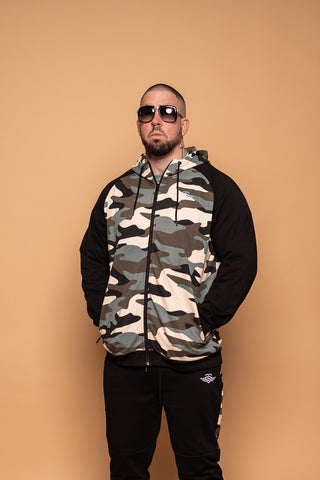 CAMO BLACK ZIPPER