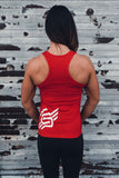 BIG BACK LOGO TANK RED - MassiveSoldier©