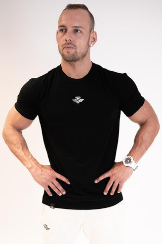 LITTLE LOGO SHIRT BLACK - MassiveSoldier©