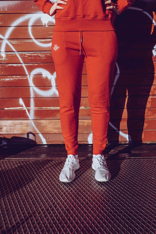 LOGO JOGGER DAMEN RED - MassiveSoldier©