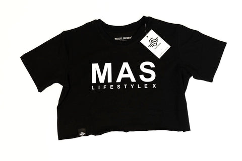 MASSIVE CROP SHIRT BLACK - MassiveSoldier©