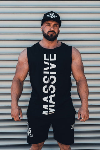 MASSIVE CUTTED TEE BLACK - MassiveSoldier©