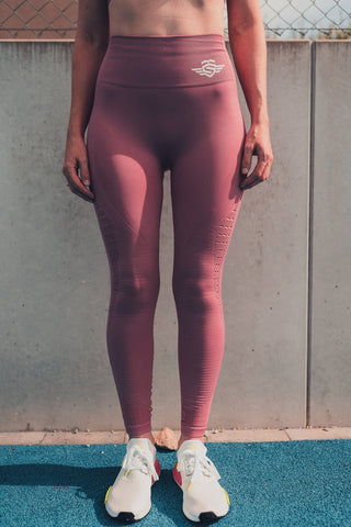 MASSIVE HIGH WAISTED LEGGINGS PINK - MassiveSoldier©