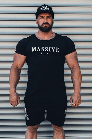 MASSIVE SLDR SHIRT BLACK - MassiveSoldier©