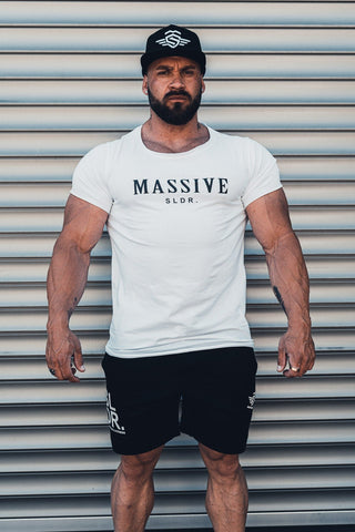 MASSIVE SLDR. SHIRT WHITE - MassiveSoldier©