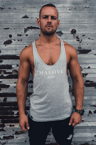 MASSIVE SLDR STRINGER GREY - MassiveSoldier©