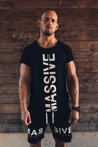 MASSIVE SOLDIER BOTH SIDE SHIRT BLACK - MassiveSoldier©