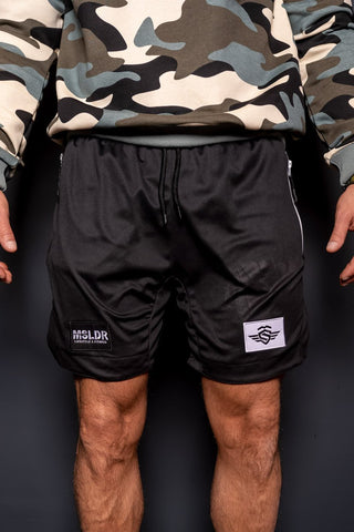 PERFORMANCE DOUBLE LAYER SHORTS BLACK - MassiveSoldier©