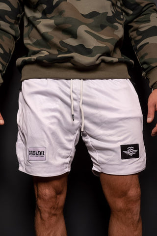 PERFORMANCE DOUBLE LAYER SHORTS WHITE - MassiveSoldier©