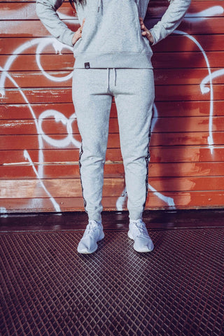 STRIPE JOGGER DAMEN GREY - MassiveSoldier©