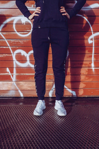 STRIPE JOGGER DAMEN NAVY - MassiveSoldier©