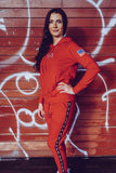 STRIPE JOGGER DAMEN RED - MassiveSoldier©