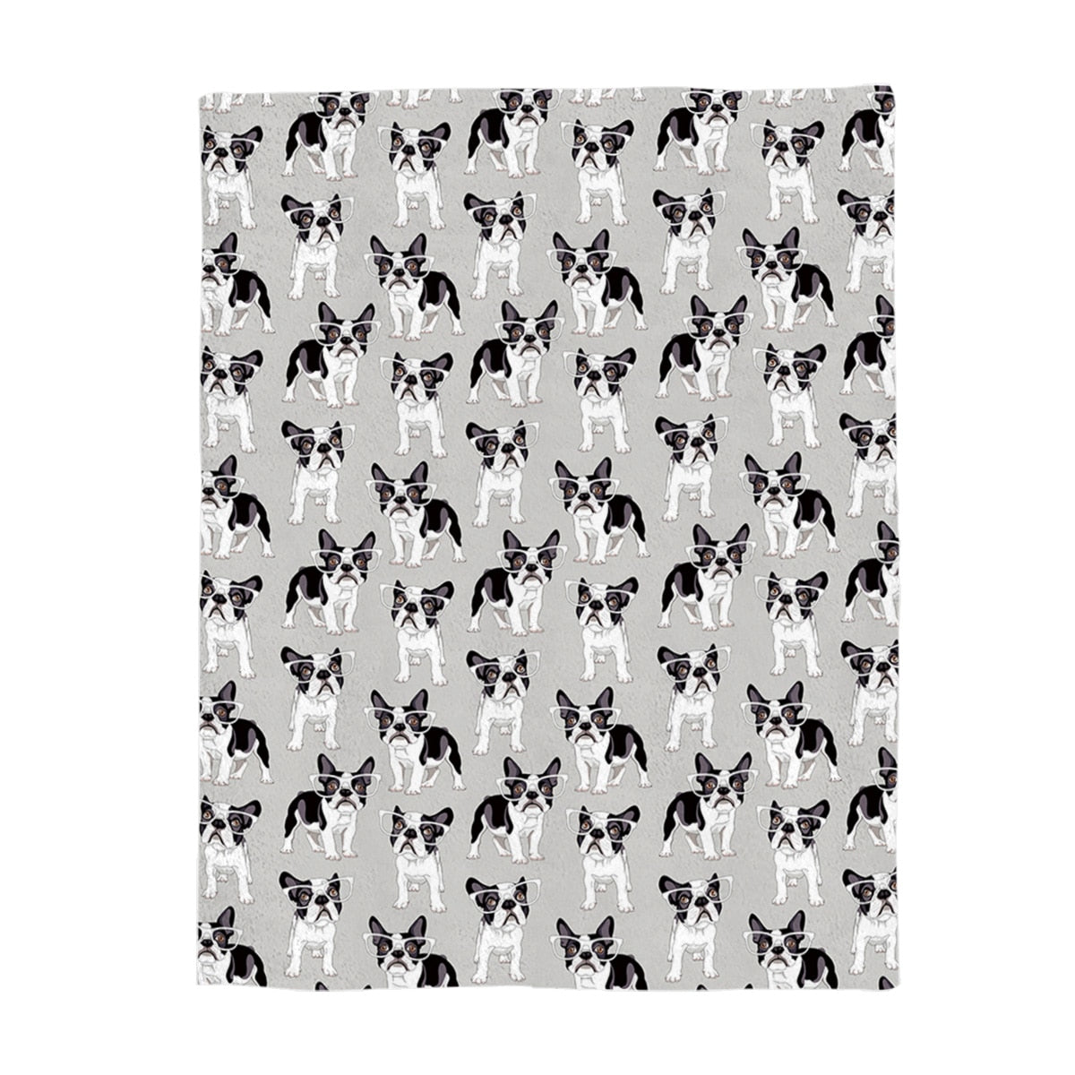Frenchy Throw Blanket Puppy Throw Blanket with Spoonflower Fabric French Bulldog by wxstudio