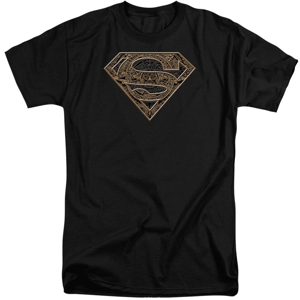 Superman - Aztec Shield Short Sleeve Adult Tall