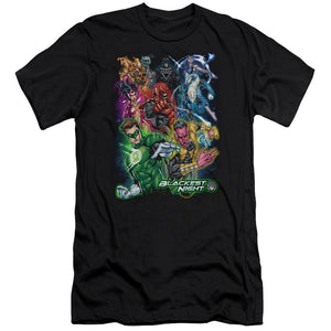 Green Lantern - Blackest Group Short Sleeve Adult 30/1