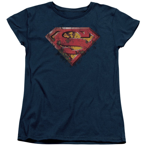 Superman - Rusted Shield Short Sleeve Women's Tee
