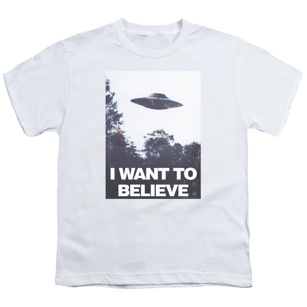 X Files - Believe Poster Short Sleeve Youth 18/1