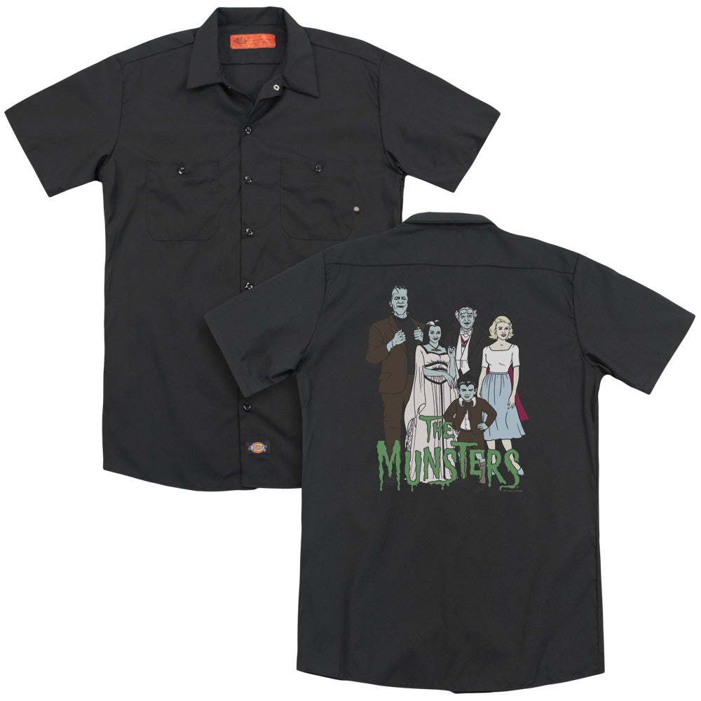 The Munsters - The Family (Back Print) Adult Work Shirt